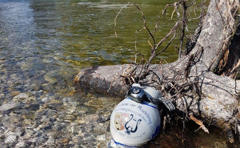 Bargener Moschtkrug an Münchner Isar-Ufer entdeckt – Biertrinker hatten wohl keine Verwendung