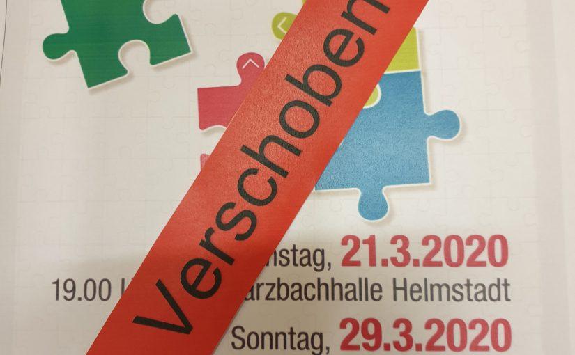 """Absage Konzert """"ZUSAMMEN"""" am 21.03.2020"""