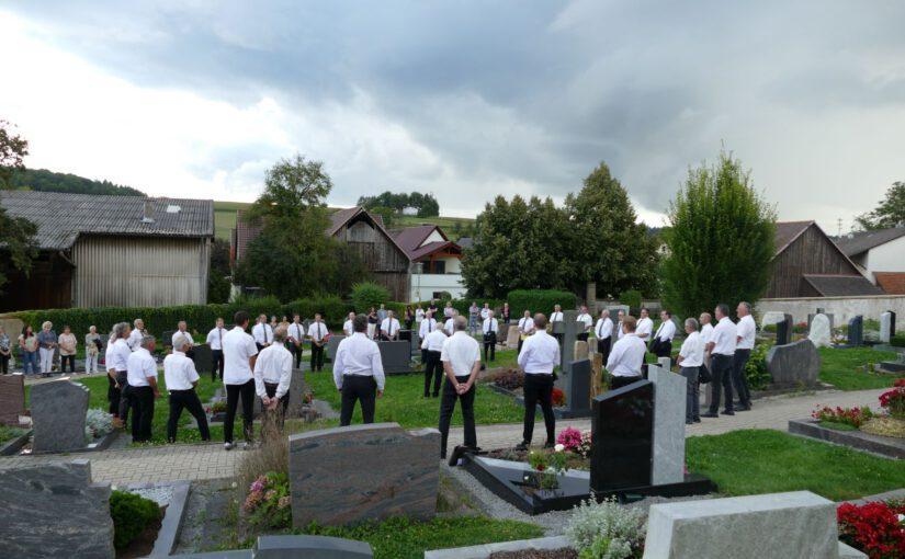 Gedenken an die verstorbenen Sänger