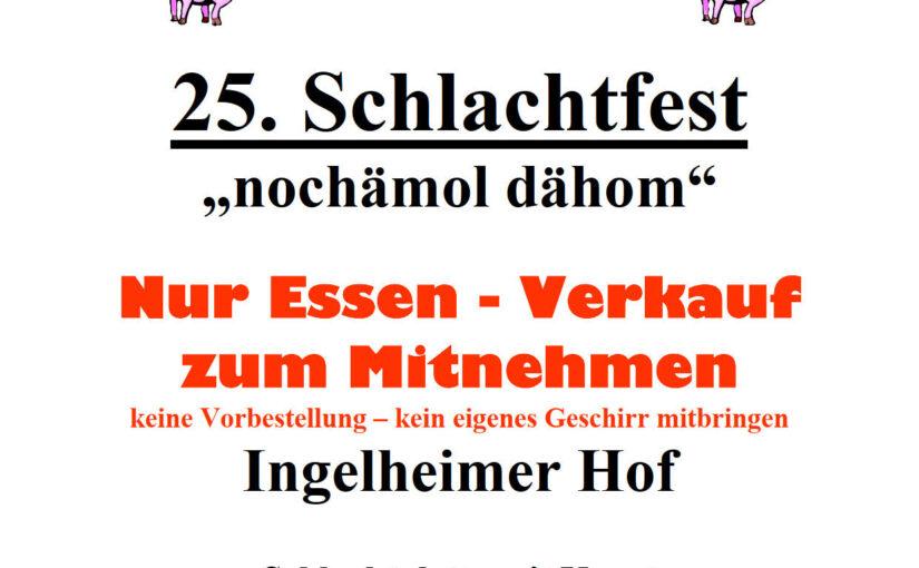 "25. Schlachtfest des MGV Bargen  –  ""nochämol dähom"""